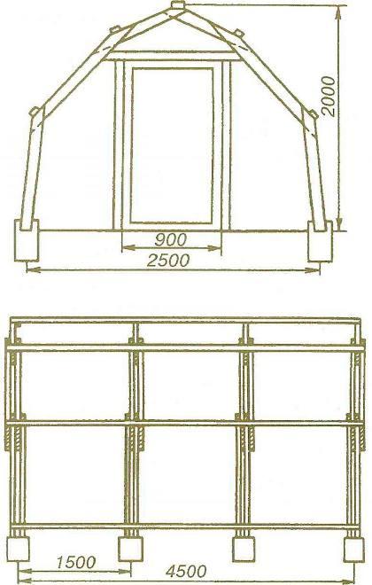 Схема арочной теплицы Н.Х.